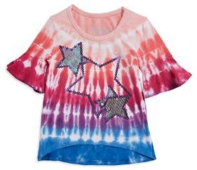 Flapdoodles Little Girl's Tie-Dye Tee