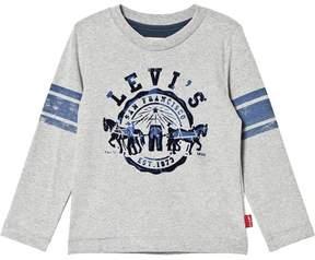 Levi's Grey Logo Long-Sleeved Tee