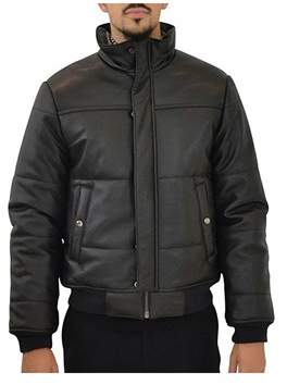 Marc by Marc Jacobs Mens Black Leather Outerwear Jacket.