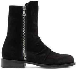 Amiri Black Suede Stack Boots