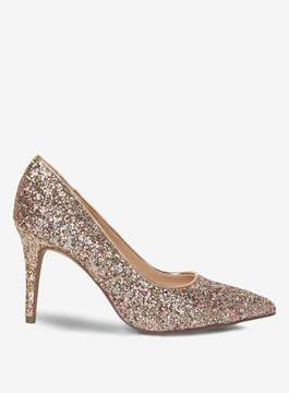 Dorothy Perkins Wide Fit Pink Glitter Electra Court Shoes