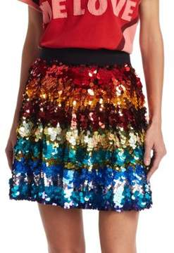Alice + Olivia x Beatles Blaise Sequin Skirt