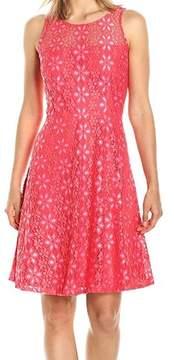 Nine West Womens Floral Lace Party Dress