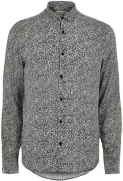River Island Mens Black and white animal print smart shirt