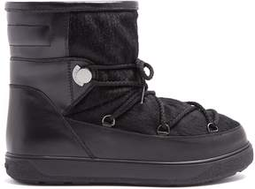 Moncler New Fanny calf-hair and leather après-ski boots
