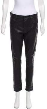 RtA Denim Leather Mid-Rise Pants