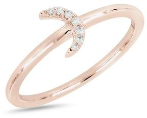 Bony Levy 18K Rose Gold Diamond Half Moon Ring - 0.04 ctw