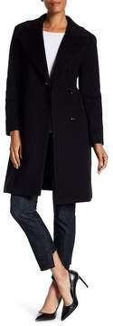 Cinzia Rocca Notch Collar Wool Blend Coat