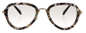 Miu Miu Marbled Aviator Sunglasses