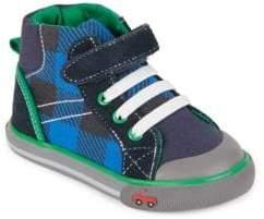 See Kai Run Kid's Dane Plaid High-Top Sneakers