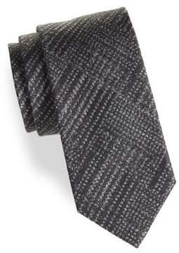 Black & Brown Black Brown Embroidered Tie