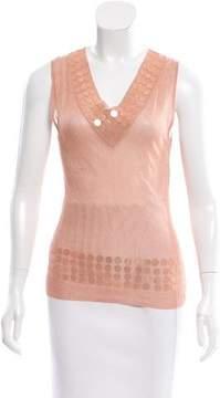 Christian Dior Embellished Knit Top