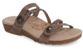 Aetrex Women's Janey Braided Slide Sandal