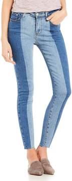 Chelsea & Violet C&V Half & Half Ankle Skinny Jeans