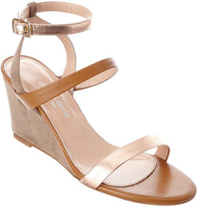 Charles David Cassie Leather Wedge Sandal
