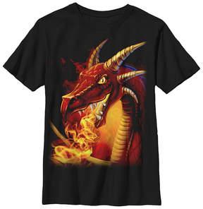 Fifth Sun Black Fire-Breathing Dragon Tee - Boys