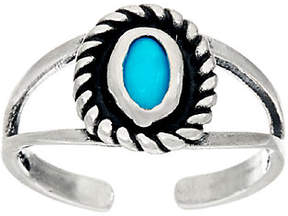 American West Sleeping Beauty Turquoise Sterl.Silver Toe Ring