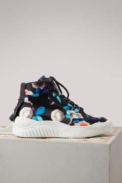 MSGM Rose printed Treks sneakers