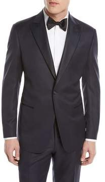 Giorgio Armani Micro-Diamond Pattern Wool-Blend Tuxedo