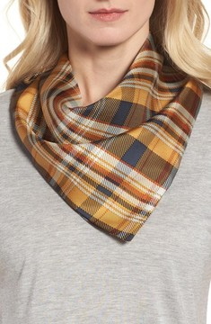 Donni Charm Women's Bandit Plaid Silk Neckerchief