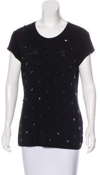Blugirl Embellished Short Sleeve Top