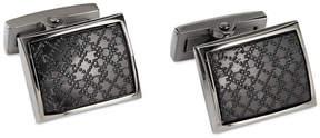 Ryan Seacrest Distinction Black Plaid Cufflinks