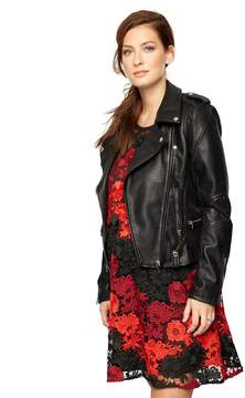 A Pea in the Pod Blank NYC Faux Leather Moto Maternity Jacket
