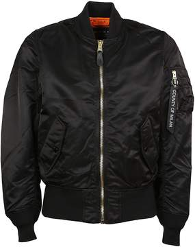 Marcelo Burlon County of Milan Tiger Embroidered Bomber