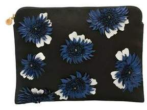 Forest of Chintz Modern Aster Blue Clutch Bag