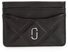 Marc Jacobs Women's Quilted Leather Card Case - Black - BLACK - STYLE