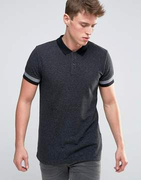 Esprit Slim Fit Polo Shirt with Cuffed Arm Detail