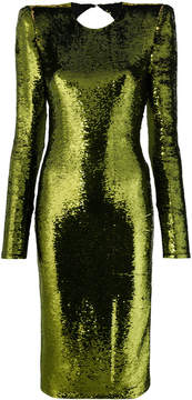 Alexandre Vauthier sequin open back fitted dress