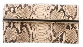 Mark Cross Python Flap Clutch