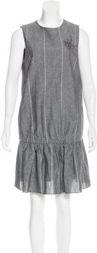 Brunello Cucinelli Linen Embellished Dress