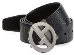Giorgio Armani Leather Plate Belt