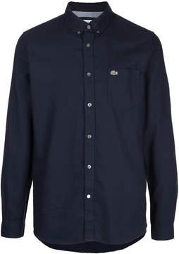 Lacoste logo patch button-down shirt