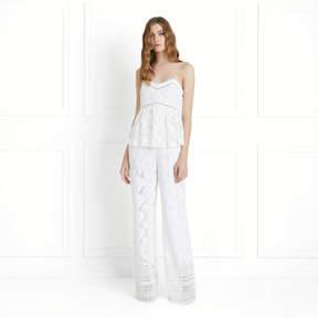Rachel Zoe Margo Floral Lace Wide-Leg Jumpsuit