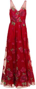 Red Rose Long Dress