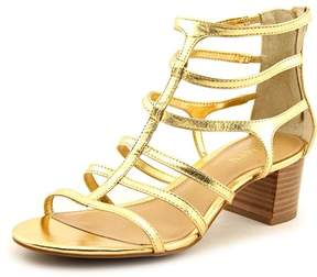Lauren Ralph Lauren Madge Women Open Toe Leather Gold Sandals