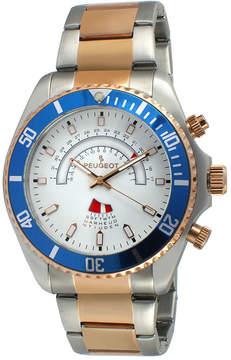 Peugeot Mens Rose-Tone Circular Bracelet Watch 1048TT