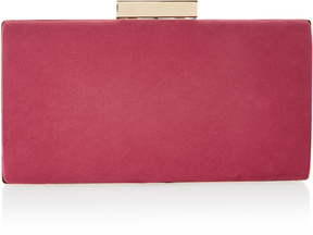 Lyra Raspberry Microsuede Box Clutch Bag