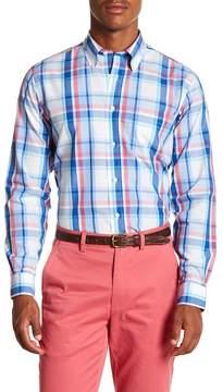 Brooks Brothers Sunset Plaid Long Sleeve Sport Fit Shirt