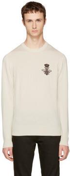 Dolce & Gabbana Off-White Bee Sweater