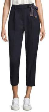 Peserico Tropical Pleated Crop Trousers