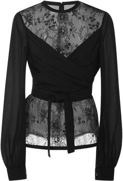 Elie Saab Wrapped Lace Blouse
