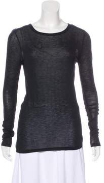 BLK DNM Scoop Neck Stretch Knit Top