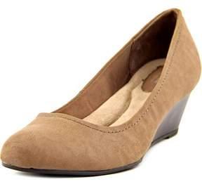 Giani Bernini Jileen Women W Open Toe Synthetic Brown Wedge Heel.