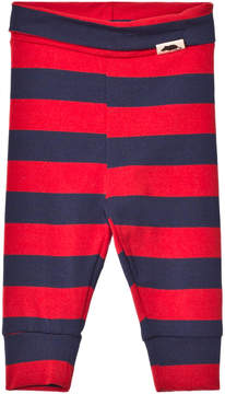 Mini Rodini Red and Blue Striped Leggings