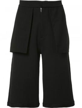 Public School Mono flap detailing shorts