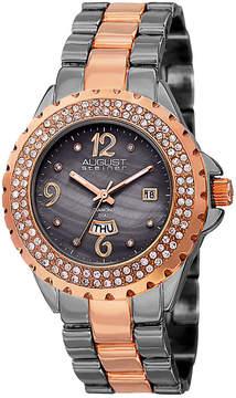 August Steiner Womens Two Tone Strap Watch-As-8156ttr
